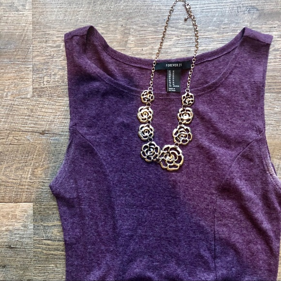 Forever 21 Dresses & Skirts - Forever 21 purple fit and flare dress